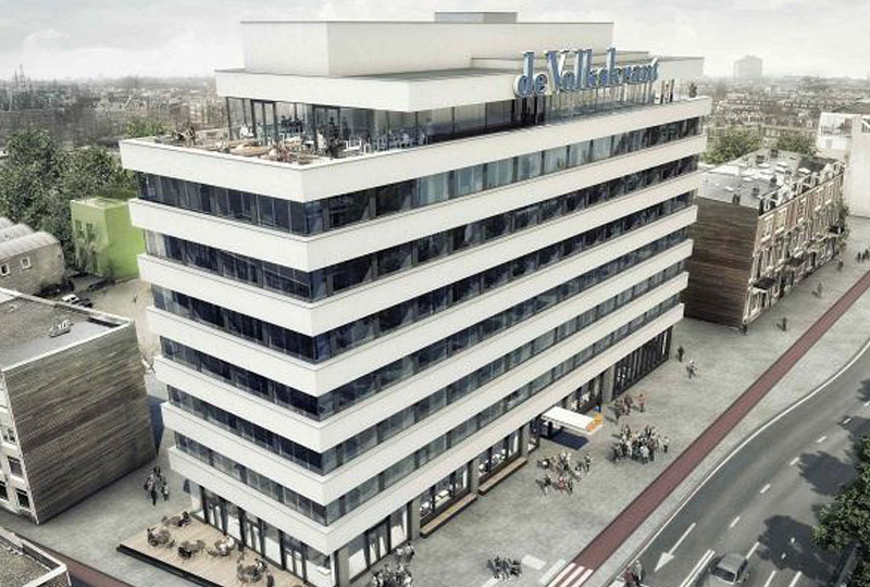 Het GeluidBuro Geluidisolatie Gebouwen Volkskrantgebouw Amsterdam